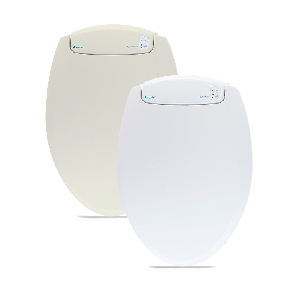 LumaWarm l60 heated toilet seat closed top view
